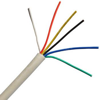24awg 6 core security cable copper 7/0.2mm alarm cable