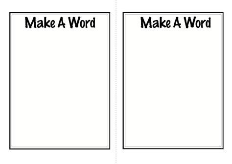 make word template 10 activities for teaching and practicing letters and
