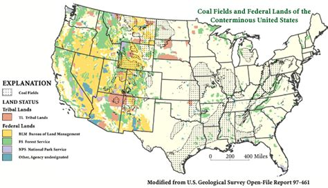 map of federally owned land in usa federal coal in the united states digital database of