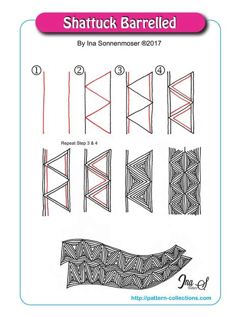 zentangle pattern shattuck 1382 best zentangle patterns images on pinterest