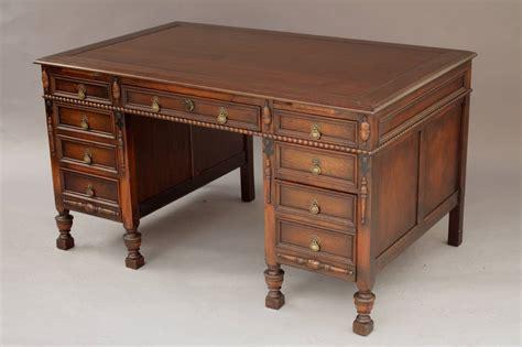 Antique Walnut Desk by Antique Revival Large Scale Walnut Desk At 1stdibs
