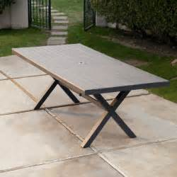 resin patio table belham living all weather resin patio dining table