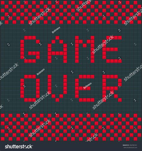 game design vector game over template tetris old video stock vector 336785741