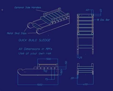 sle blueprints diy snow sled handyman tips