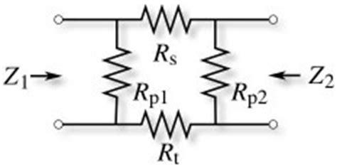 resistor pi network resistor dictionary resistor attenuator definitions