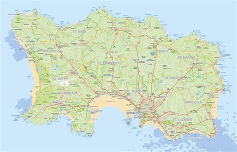 0004490363 carte touristique jersey en jersey carte