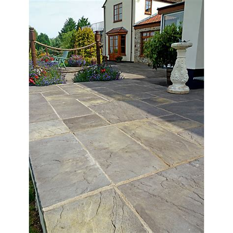 Travis Perkins Patio Slabs by Marshalls Heritage Riven 600 X 600 X 38mm