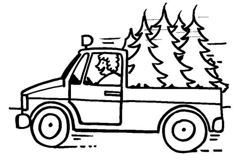 Christmas Truck Coloring Page | truck coloring pages coloringpages1001 com