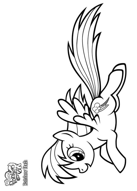 flying pony coloring pages my little pony rainbow dash flying coloring pages