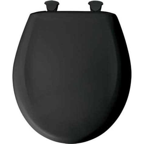 bemis closed front toilet seat in black 200slowt 047