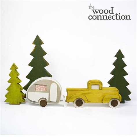 truck  trailer  trees wood crafts unfinished