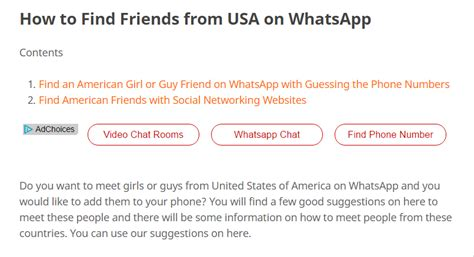 How To Search On Whatsapp How To Find Friends From Usa On Whatsapp Opinions One Of