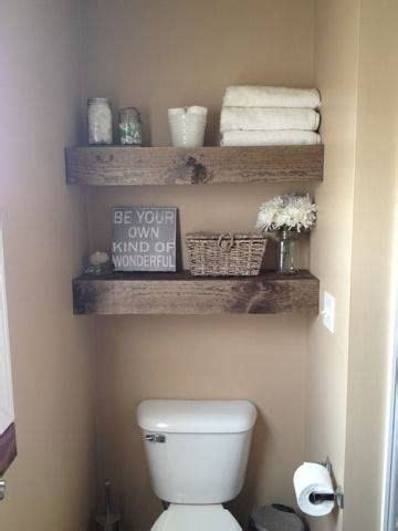 Wood Shelves Bathroom by Diy 15 Chunky Wooden Floating Shelves Toilets Powder