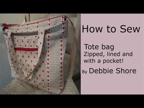 tote bag pattern free youtube a zippered lined tote bag for you to sew by debbie shore