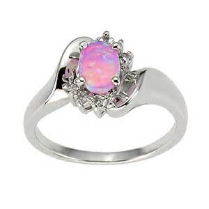 womens engagement rings 925 sterling silver synthetic pink opal s engagement wedding ring ebay
