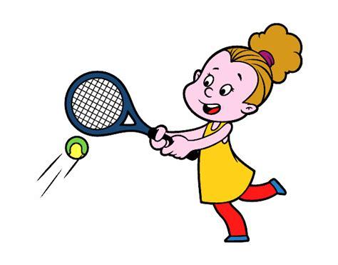 dibujos de niños jugando tenis dibujo de ni 241 a jugando a tenis pintado por en dibujos net