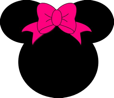 minnie mouse templates minnie mouse bow no dots clip at clker vector
