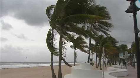 Florida Keys by Windy Weather Slows Down Activity At South Florida Beaches