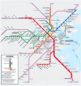 Map Of Boston T by Boston T Map