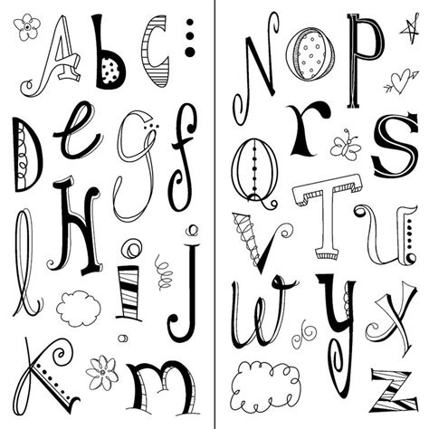 Inkadinkado Doodle Alphabet Clear Sts Mis Sellos