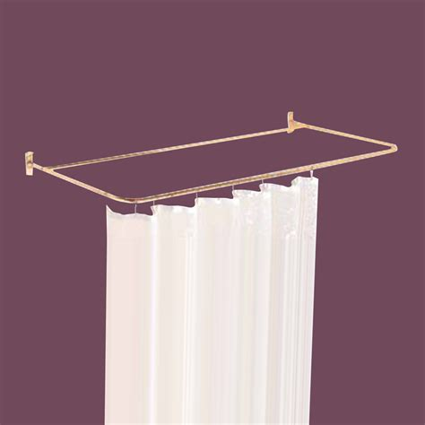 c shaped shower curtain rod shower curtain rod bright solid brass 4 sided