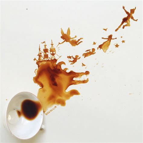 Spilled Coffee On by Spilled Food Turned Into Beautiful By Giulia