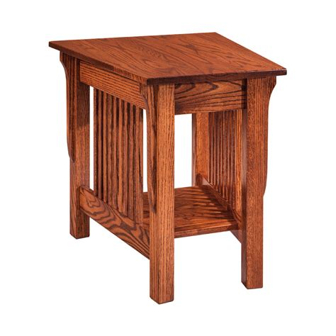 rustic wedge end table lakeland wedge end table shipshewana furniture co