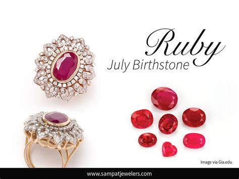 birthstone color for july ruby birthstone of july sat jewellers inc