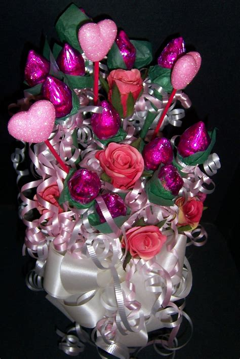 hershey kiss rose candy bouquets  suzys wrap shack suzys wrap shack
