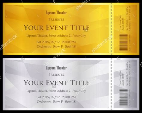 ticket voucher template 11 free psd eps format