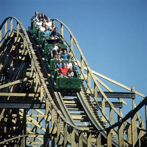 the roller coaster at flambards theme park near helston a wooden rollercoaster the coffee bean company