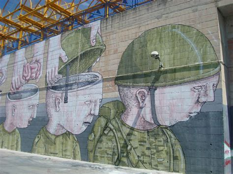 blus controversial wall  brainless soldiers scene