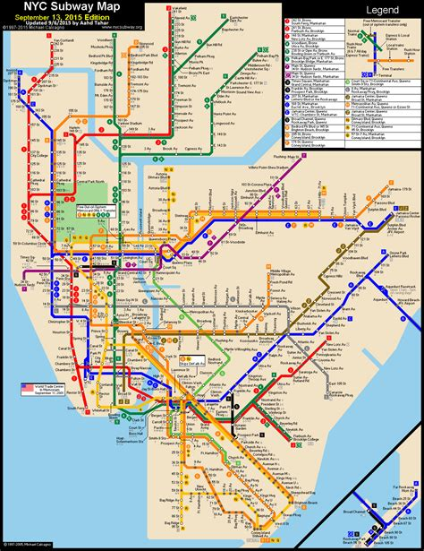 subway map www nycsubway org new york city subway route map by