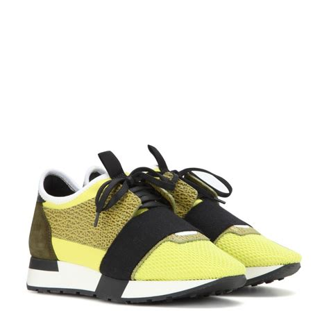 balenciaga runner race sneakers in yellow lyst