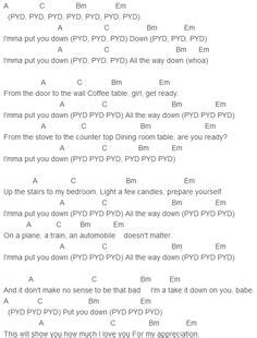 from the dining table chords song lyrics on bruno mars lyrics