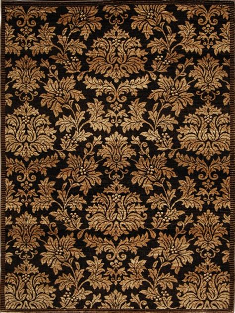 Brown Damask Rug by Damask Brown Gold Area Rug 8x10 Carpet 1000