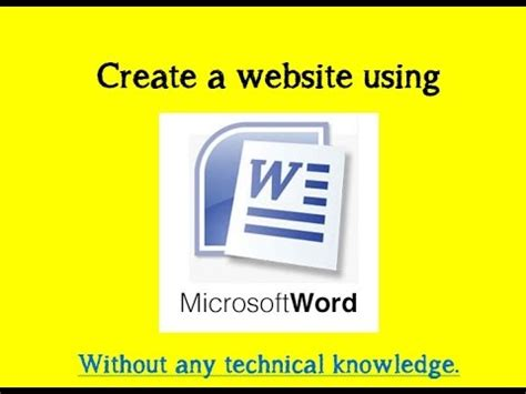 how to create website using ms word step by step youtube