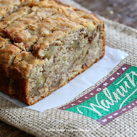 Light Walnut By Minimarket Vegan banana walnut breakfast loaf gluten free banana bread
