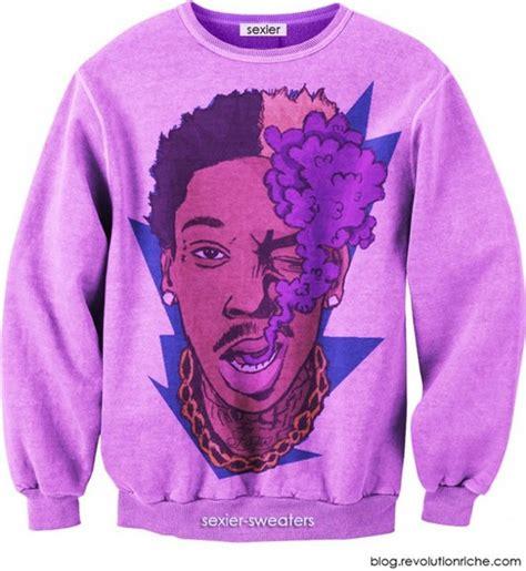 Hoodie Sweater Smoke Cannabis sweater wiz khalifa purple sweater cannabis