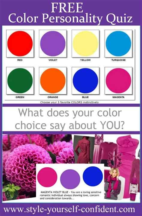 what is my favorite color quiz free color personality quiz