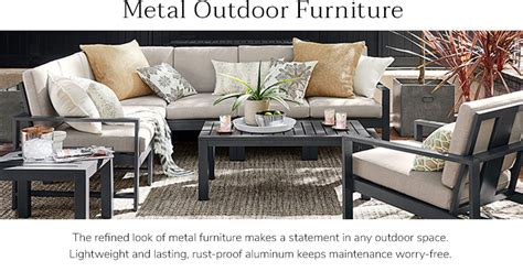 metal outdoor sofa metal outdoor furniture williams sonoma