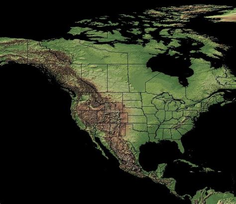 terrain map map attack geographical map of the united states