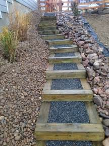 Landscape Stairs Design Timber Stairs On Steep Slope Outdoor Stairs Diy Backyards New Construction And