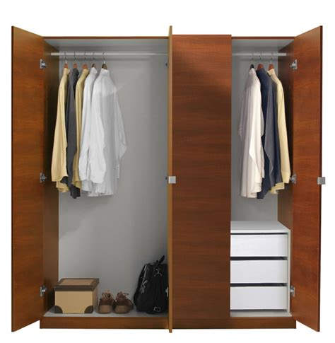 Closet Packages Alta Wardrobe Closet Package 3 Drawer Wardrobe Package
