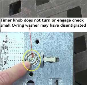 how do i remove timer knob from kleenmaid washing machine