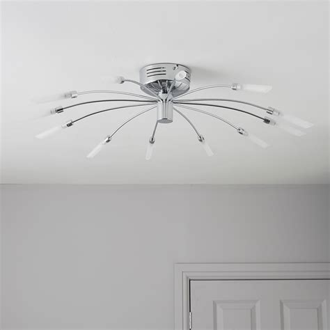 rena chrome effect 12 l ceiling light departments