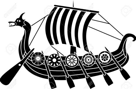 boat drawing symbol ancient clipart viking pencil and in color ancient