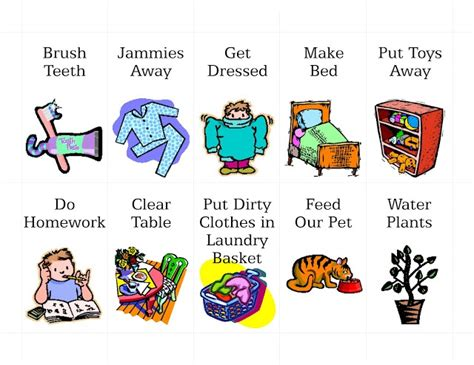 free printable clipart chore cliparts