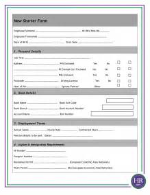 Employee Starter Form Template best photos of new employee form template employee new