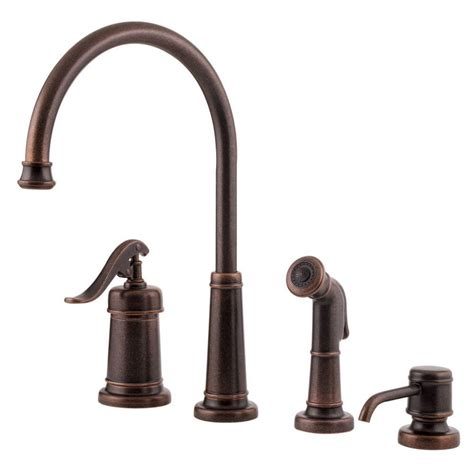 tuscan bronze kitchen faucet pfister ashfield single handle high arc standard kitchen faucet with side sprayer in tuscan